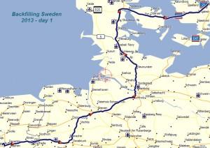 Op weg naar Zweden,